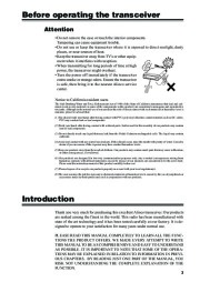 Alinco DR-620 VHF UHF FM Radio Owners Manual Owners Manual page 5