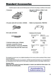 Alinco DR-620 VHF UHF FM Radio Owners Manual Owners Manual page 7