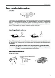 Alinco DR-620 VHF UHF FM Radio Owners Manual page 9