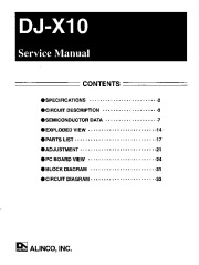 Alinco DJ-X10 FM Radio Instruction Manual Owners Manual page 1