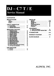 Alinco DJ-C7 SM VHF UHF FM Radio Service Manual page 1