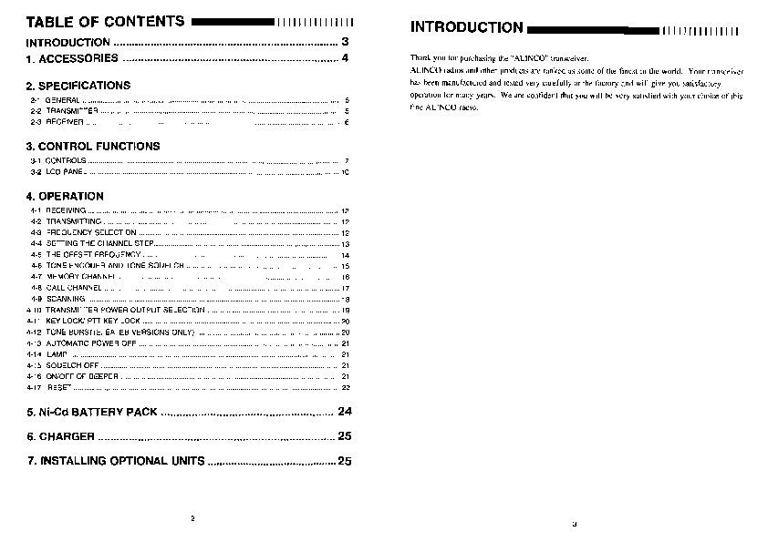 alinco dj 500 user manual