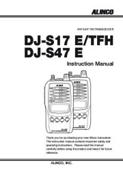 Alinco DJ-S17 DJ-S47 E TFH VHF UHF FM Radio Instruction Owners Manual page 1