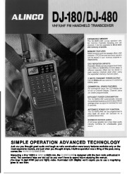 Alinco DJ-180 VHF UHF FM Radio Instruction Owners Manual page 1
