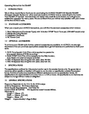 Alinco DJ-600T Radio Instruction Owners Manual page 1