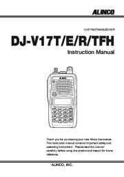 Alinco DJ-V17T E R TFH Radio Instruction Owners Manual page 1