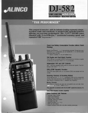 Alinco DJ-582 VHF UHF FM Radio Instruction Owners Manual page 1