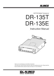 Alinco DR-135 VHF UHF FM Radio Instruction Owners Manual page 1