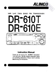 Alinco DR-610T DR-610E VHF UHF FM Radio Instruction Owners Manual page 1