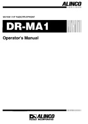 Alinco DR-MA1 VHF UHF FM Radio Instruction Owners Manual page 1